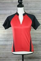 Specialized Womens Red Black 3/4 Zip Cycling Jersey Size Small
