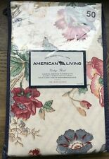 American Living Country Floral Laura Parchment Window Valance green tan blue NWT