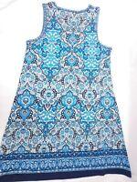 Max Studio Women's Sleeveles Trapeze Jersey Dress Navy Blue Size Medium