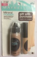 Maybelline Mineral PowerFoundation SANDY BEIGE WITH MINERAL CONCEALER SAND.