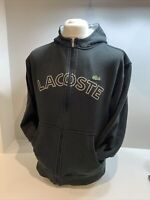Mens Black Lacoste Full Zip Hoodie Size Medium (size 4)