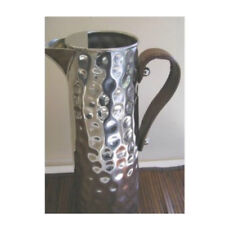 Bolt Hammered Water Jug with Leather Handle 2.25 L