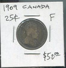 CANADA - BEAUTIFUL EDWARD VII SILVER 25 CENTS, 1909