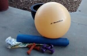 Lot of Beginner Workout Supplies - Weights, Yoga, Workouts &  More