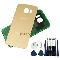 OEM Gold Battery Door Back Glass Cover Housing For Samsung Galaxy S6 G920 +Tools