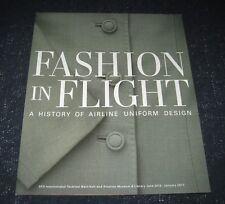 2016 Fashion in Flight SFO Museum Airport Brochure-History Airline Uniform