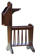 Amish Furniture - Oak Sofa Side Stand with Storage and Small Table - Made in USA