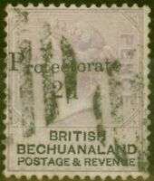 Bechuanaland 1888 2d on 2d Lilac & Black SG42 Fine Used