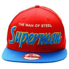 NEW ERA 9FIFTY CAP. REVERSE HERO WORD SUPERMAN OFFICIAL. red/blue