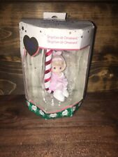 2001 Girl with Candy Cane & Pajamas Precious Moments Brighten-Up Ornament