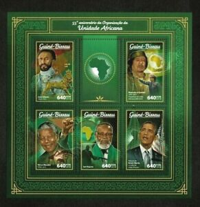 Guinea-Bissau 2018 - 55th Anniversary of African Unity - Sheet of 5 Stamps - MNH