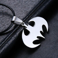 New Smart Chain Pendant Necklace Silver Stainless Steel Choker Gift Bat Batman