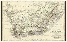 MAP ANTIQUE 1861 JOHNSTON SOUTHERN AFRICA NATAL REPLICA POSTER PRINT PAM0329
