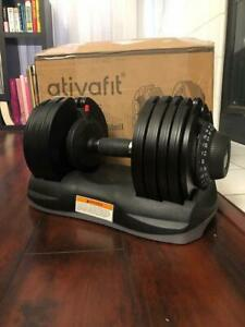 ATIVAFIT Adjustable Dumbbell 71.5 Pounds Fitness Dial Dumbbell * 2 Available *
