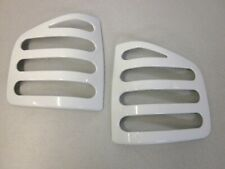 For GMC Sonoma Pickup Tail Light Cover Set Slotted White 1994-2003  94-03