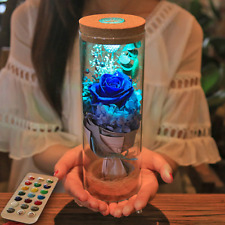 Color Christmas LED Rose Bottle Lamp Gift Flower Light without Remote Control