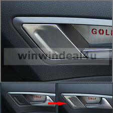 FOR VW GOLF 7 MK7 INTERIOR DOOR HANDLE SIDE TRIM COVER STICKER STAINLESS STEEL