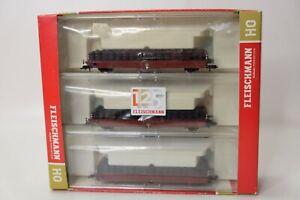 Fleischmann 581209 Modelleisenbahn H0 Wagenset Schwellentransport 3-teilig
