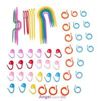 Plastic Stitch Knitting Needles Clip Holders Markers DIY Crochet Stitch Knitting