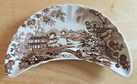 Royal Staffordshire by Clarice Cliff Brown Bone Dish Tonquin Pattern England