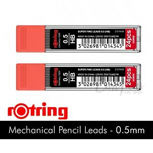 0.5mm HB Pencil Leads Refills x 48 OFFER for Mechanical Pencils by Rotring