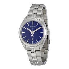 Tissot PR100 Blue Dial Stainless Steel Ladies Watch T1012101104100