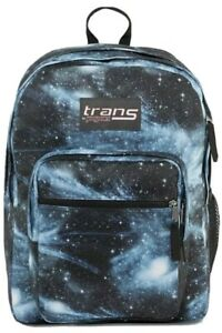 JanSport Trans SuperMax Backpack Laptop Sleeve Cosmos Galaxy Space Blue NWT