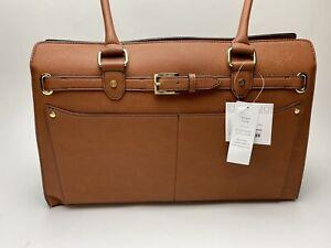 Liz Claiborne Large Camel Brown Shoulder / Tote/ Laptop Bag w/feet NWT