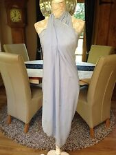WOMENS LARGE BABY PASTEL BLUE UNSEWN UNFINISHED PAREO SARONG BEACH WRAP COVER UP