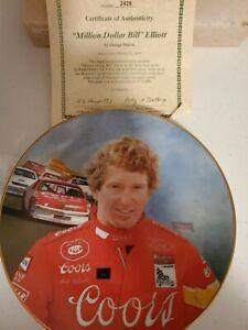 Bill Elliott Coors Melling Racing Nascar Collector Plate 1987