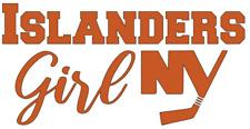 "New York Islanders ""Girl"" Nhl Hockey Car/Laptop/Cup Sticker Decal"