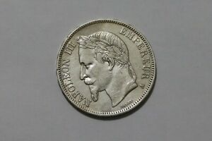 FRANCE 5 CENTIMES 1867 A SILVER NAPOLEON III B38 #K210