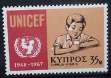 CYPRUS 1970 UN UNICEF 21st Anniversary. Set of 1. Mint Never Hinged. SG322.