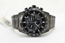 Citizen Eco-Drive Perpetual Chrono A-T Stainless Steel Black Ion Watch AT400754E