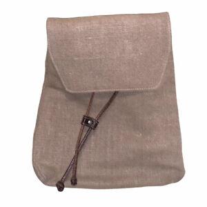 Saks Fifth Avenue Retro Burlap Leather Mini Backpack