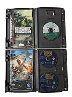 Lot Of 2, Nintendo Gamecube Games: Ghost Recon, Medal of Honor Rising Sun, F/S