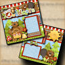 THE GREAT OUTDOORS  2 premade scrapbook pages paper piecing layout DIGISCRAP
