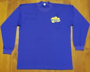 The Wiggles - original purple skivvy autographed / signed by the Sam Wiggles era