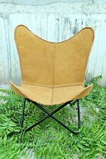 Retro Rustic Swert Leather Butterfly Relax Chair BKF Brown With Free Shipping