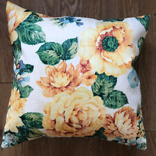 """New vintage floral fabric yellow flower 16"""" Scatter Cushion cover"""