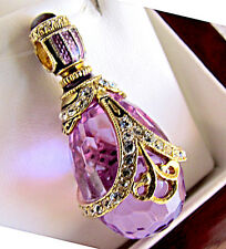 SALE ! SUPERB RUSSIAN EGG PENDANT HANDMADE OF STERLING SILVER 925 with AMETHYST