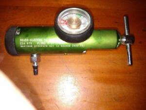 Medline Brass-Sleeved 50 PSI O2 Regulator  0-15 L/min ~ HCS5715M