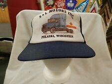 trucker hat baseball cap S&L MOTORS INC. grunge Mesh Style snapback retro