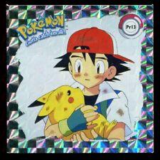 POKEMON STICKER ENGLISH CARD 50X50 1998 HOLO N° PR03 PIKACHU /& ASH
