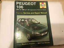 PEUGEOT 106 Inc RALLYE HAYNES SERVICE REPAIR MANUAL PETROL DIESEL 1991-1998 J-S