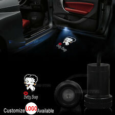2x Car Door BETTY BOOP Sexy Lady Logo LED Laser Projector Ghost Shadow Light