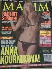AUGUST 2004 MAXIM #80 Anna Kournikova sexy & Hot cover Kelly Carlson + Meng Lau