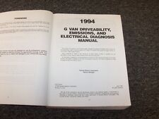 1994 Chevy Beauville GMC Vandura Driveability Emissions Electrical Wiring Manual