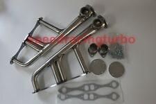 EXHAUST LAKE STYLE HEADERS FOR SBC 265-400 V-8 CHEVYHOT ROD STREET RAT STAINLESS