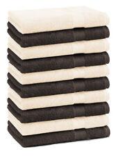 Betz 10 Toallas para invitados PREMIUM 30x50cm en marrón oscuro y beige